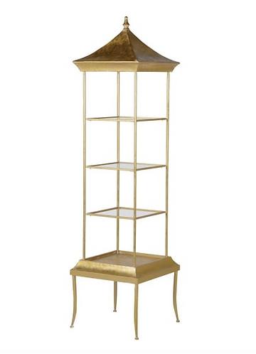 Tall Golden Pagoda Shelves