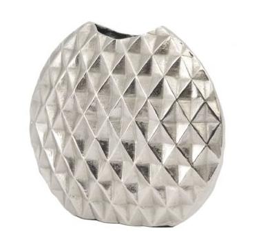 Geo Cut Aluminium Ellipse Vase Small