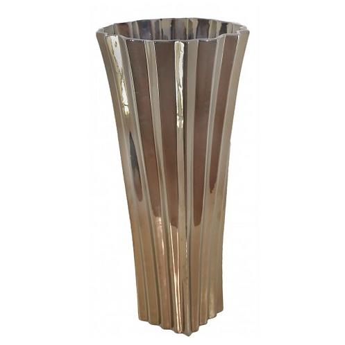 Large Shiny Gold Kimona Vase