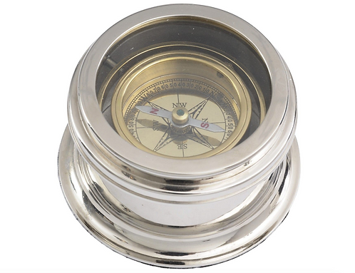 TimeLess Brass and Nickel Compass