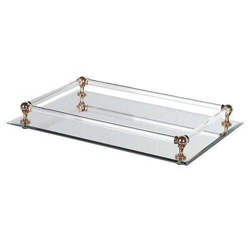 TimeLess Rectangular Mirror Tray