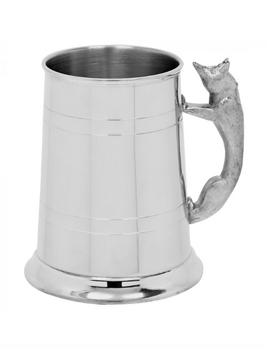 Fox 1 Pint Pewter Tankard