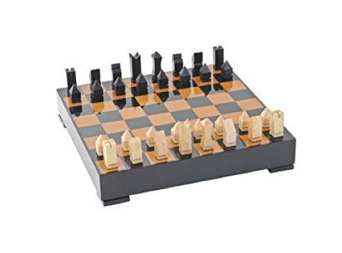 TimeLess Luxury Chess Set with Walnut and Black Gloss Finish