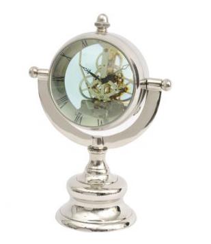 Oversized Nickel Table Clock