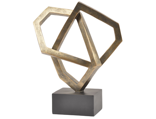 Antique Bronze Cubist Sculpture