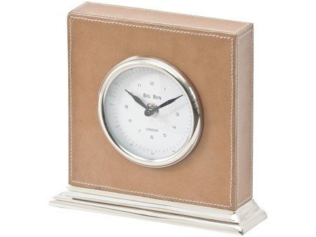 TimeLess Burlington Leather Carriage Clock