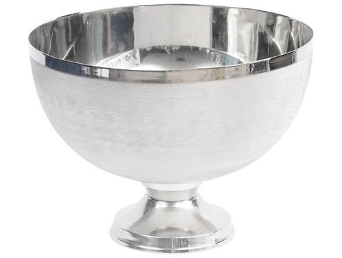 Aug Promo - Silver Spun Stemmed Bowl