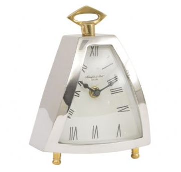 Isosceles Curved Front Mantel Clock