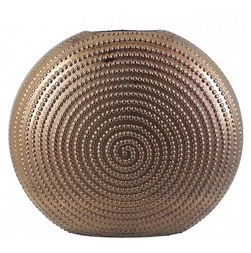 Large Matte Gold Aura Vase