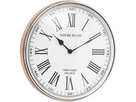 TimeLess Pendulum Round Wall Clock with Faux Leather Rim - Small