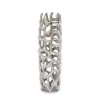 Silver Coral Cage Vase Textured Aluminium Mini
