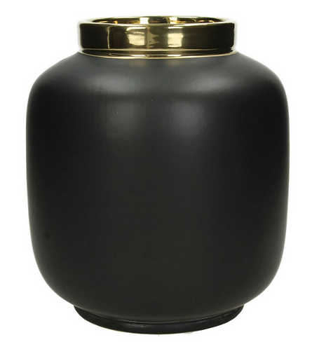 Fine Earthenware Large Vase in Black