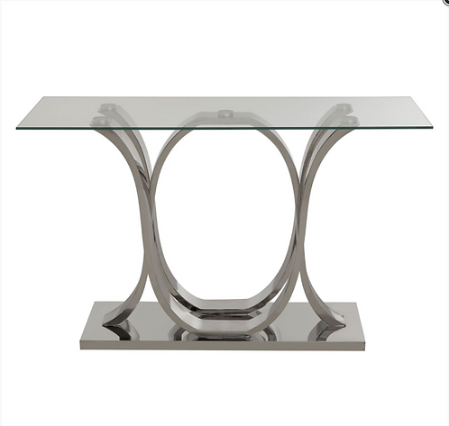 Allure Curved Base Console Table