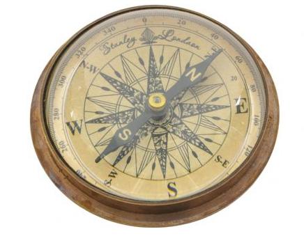 Caister Antique Brass Compass
