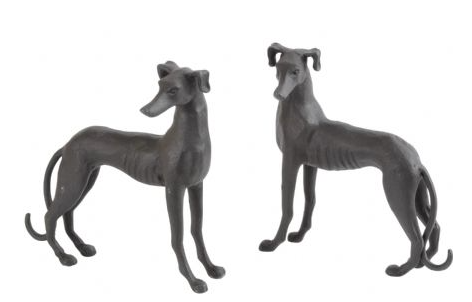 Set of 2 Dog Sculptures