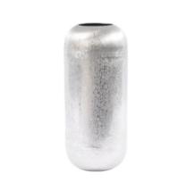Brushed Silver Decorative Aluminium Vase Small