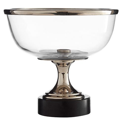 Riya Glass Bowl With Marble Base