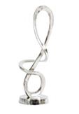 Orlando Large Textured Aluminium Loop Sculpture