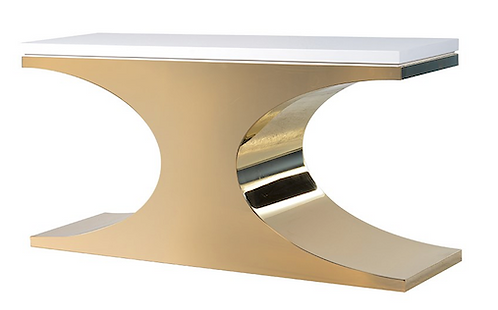 TimeLess White/Gold Console Table