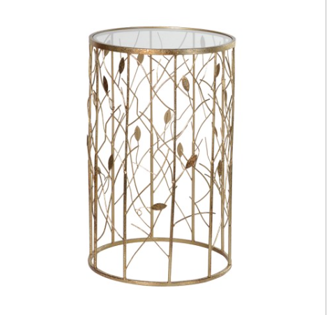 TimeLess Leaves Detail Side Table