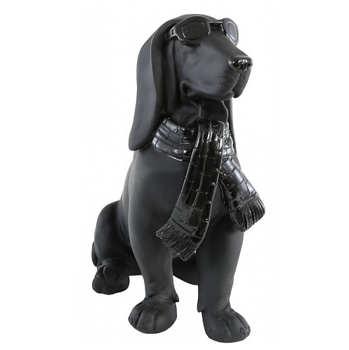 Cool Dog Wearing Sunglasses Figurine