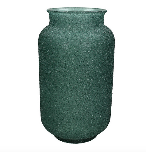 Adeline Green Textured Glass Vase Medium