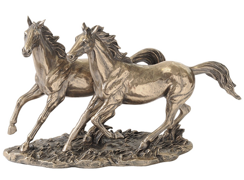 Millbeck Bronze Finish Running Horse Sculpture
