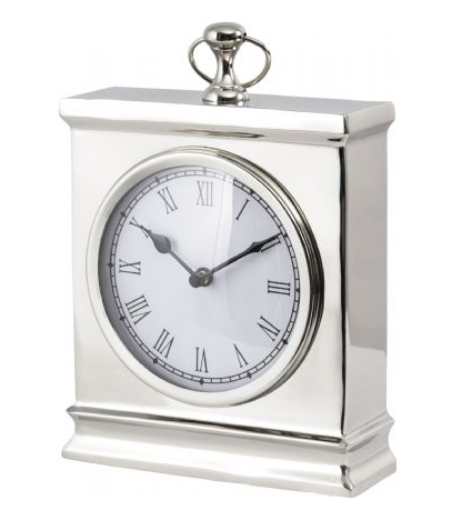 Oct Promo - Amesbury Large Nickel Mantel Clock