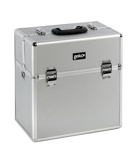 Vanity Case / Makeup Box Box Silver
