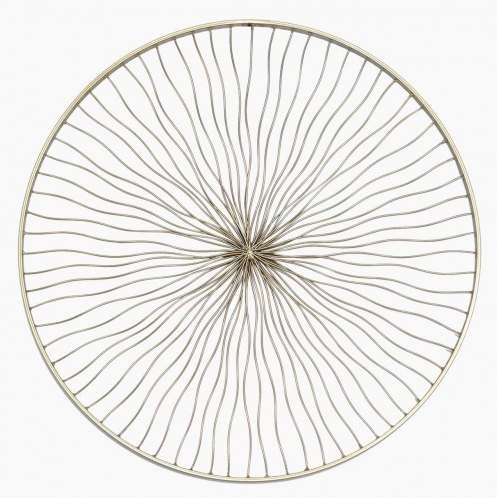 Gold Round Metal Wall Art