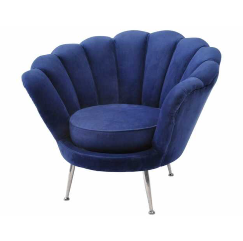 Art Deco Halcyon Occasional Chair Navy Blue Velvet Shell
