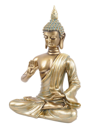 Sitting Buddha Sculpture in Gold