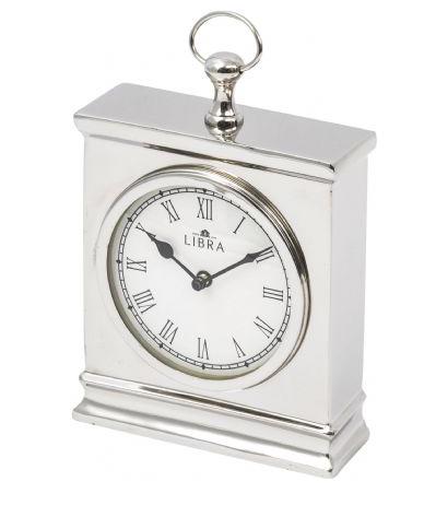 Oct Promo - Amesbury Small Nickel Mantel Clock