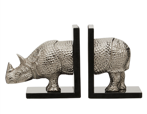 Set Of 2 Rhino Bookends