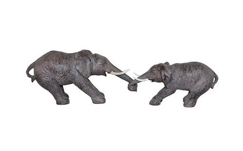 Elephants Holding Trunks Ornament