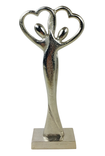 Entwined Couple Silver Straight Figures