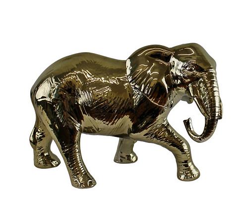 Large Golden Elephant Ornament