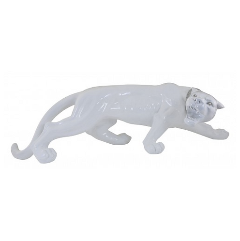 White Extra Large Panther Decoration