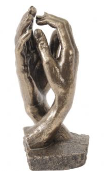 Millbeck Bronze Finish Clasping Hands Sculpture