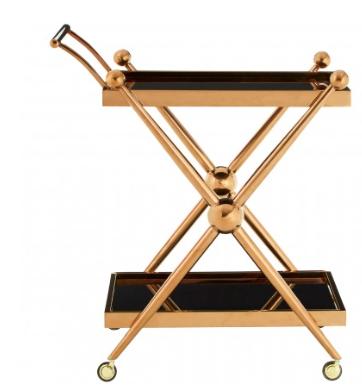 Novo 2 Tier Rose Gold / Cross Design Trolley