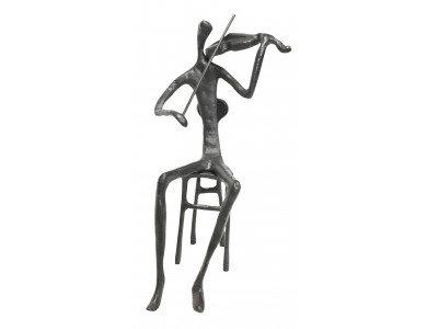 Sitting Violin Playing Figurine