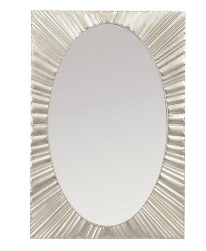 Silver Starburst Rectangular Iron Mirror