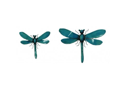 TimeLess W/A Blue Dragonflies - set of two