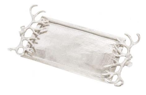 Aluminium Antler Handles Rectangular Tray