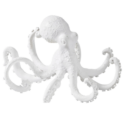 White Octopus Resin Sculpture