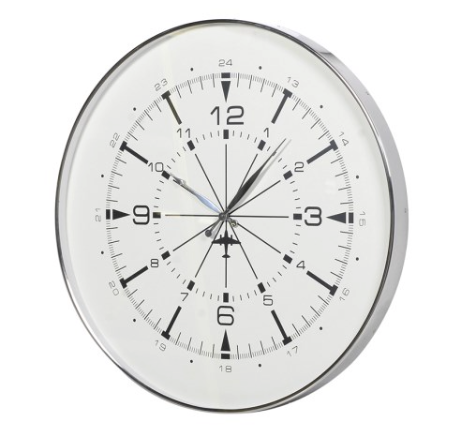 TimeLess Aviator Steel Wall Clock