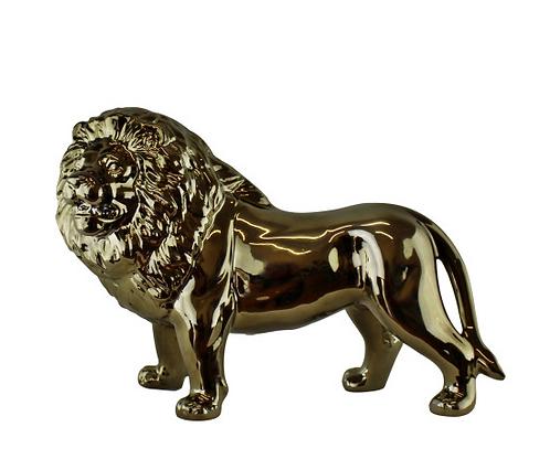 Large Golden Lion Ornament