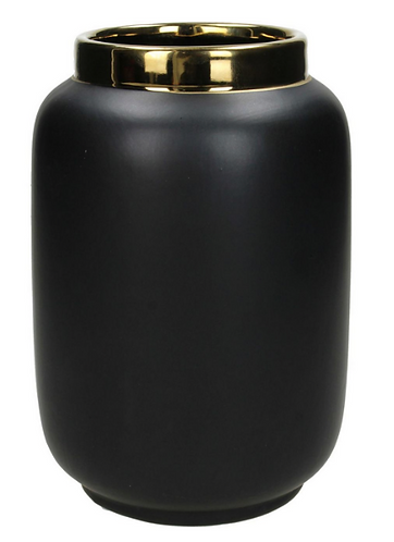 Fine Earthenware Small Vase in Black