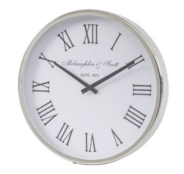 Selwyn Round Nickel Wall Clock
