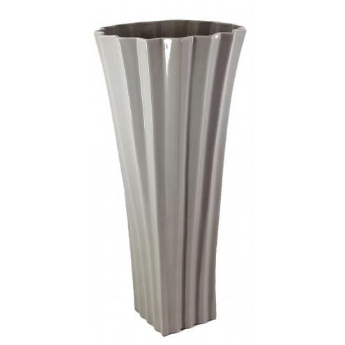 Large Shiny Taupe Kimona Vase